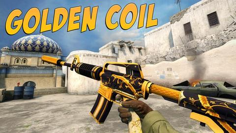 CS GO | M4A1 - Golden Coil | Factory New