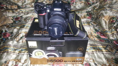 Nikon D5500 + KIT 18-55mm Like New (Maret 2016)