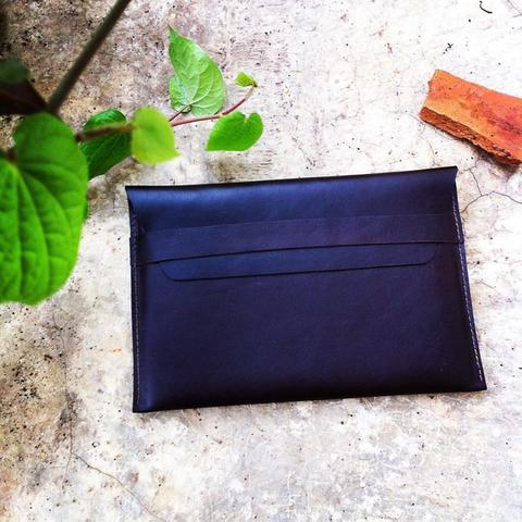 Sleeve 100% KULIT SAPI MacBook 11,12,13 dan 15 inch color dark brown