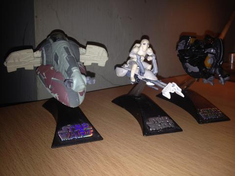STAR WARS. Slave 1 (Boba Fett), Snow Trooper w/ Speeder & Darth Maul w/ Speeder