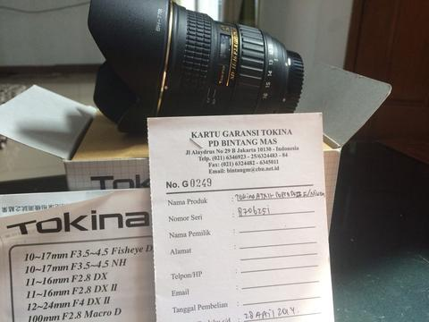 Tokina 11-16mm f/2.8 at-x pro dx ii for nikon