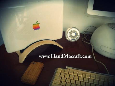 Wood kayu Stand for Macbook