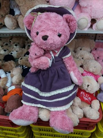 [WTS] Boneka Giant Teddy Bear Dress Ungu Plus Baby Import