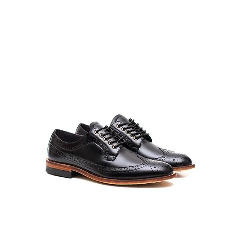 PORTEE GOODS DERBY LONGWING BLACK LEATHER BNIB (BOGOR)