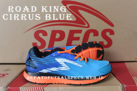 Sepatu Running Specs Road King Cirrus Blue Original