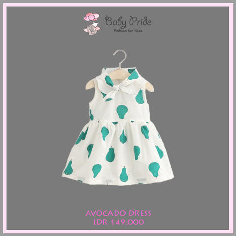 Baju dress anak / bayi / balita - AVOCADO DRESS