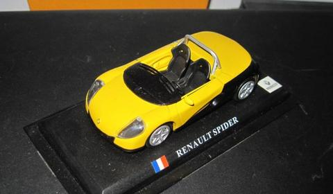 Diecast Renault Spider Yellow Colour High Detail Skala 1:43