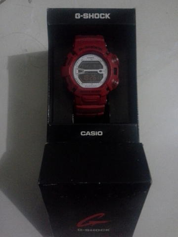 Jam Tangan Casio G-Shock G-9000MX-4 Mudman Merah Red fullset like new collector item