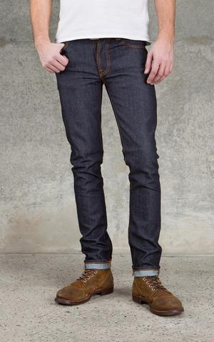 NUDIE GRIM TIM ORGANIC DRY NAVY (ORIGINAL)