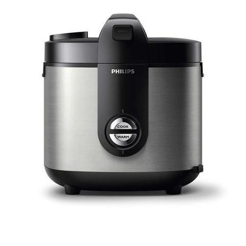 PHILIPS Rice Cooker Stainless ProCeramic 2 Liter HD3128 - Hitam