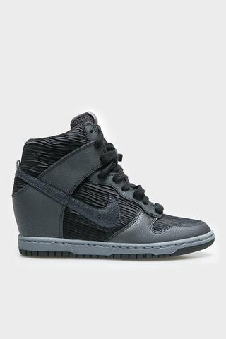 Womens Dunk Sky Hi Black Metallic Hematite Black Grey Nike ORIGINAL