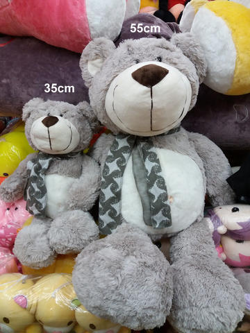 [WTS] Boneka Giant Teddy Bear Abu Abu Syal Uk 50cm Import