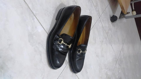 Sepatu Gucci horsebit loafer in black leather original authentic 41 not LV  bally tods 8c00b7b0a7