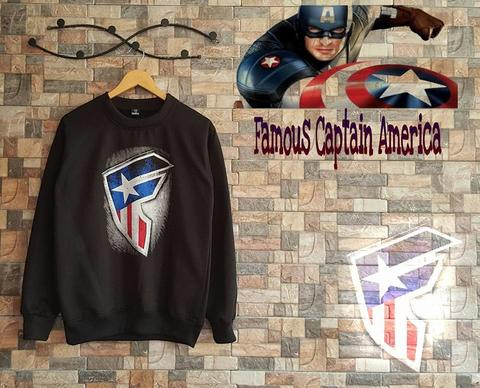Sweater Oblong Famous Captain America / sweater jumper hoodie jaket pria