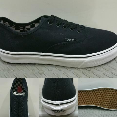 Sepatu Vans Authentic Black Insole Checkerboard ICC Made in China BNIB with Box Vans