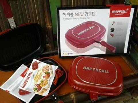 Teflon Doubel Pan Murah Jakarta Panci Happy Call Alat Masak Original Korea