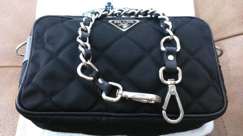 ... wholesale jual tas prada clutch nylon black authentic like new with  dustbag 271ec 11558 29a718101e