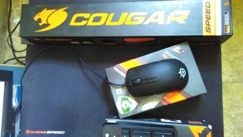 Steelseries 6Gv2 & Rival 100 + mousepad Cougar large SPEED EDITION