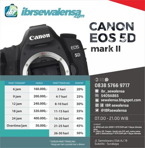 SEWA KAMERA, RENTAL KAMERA Canon EOS 5D mark II Body Only