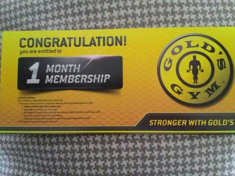 Voucher Member Gold Gym All Club Rp340.000