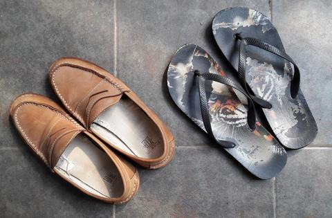 Sepatu LOAFERS brand SANDBOX dan sendal sandal COTTON ON ORIGINAL SECOND  MURAH baa386fd7c