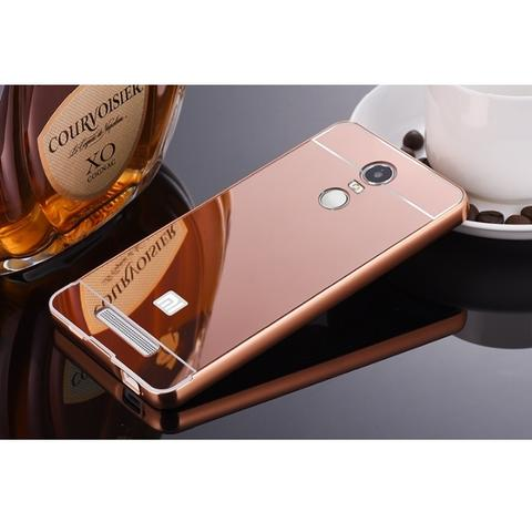 Aluminium Bumper with Mirror Back Cover for Xiaomi Redmi Note 3 / Pro