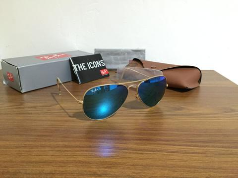 ... sweden rayban aviator authentic mirror blue red green gold d5426 3bba7 a68eac865f