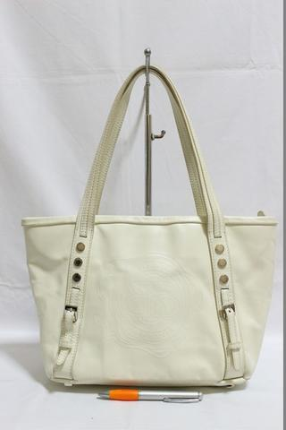 23719ddf8a Jual Tas branded SEMBONIA White zipper tote second bekas original ...