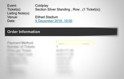 WTS TIKET COLDPLAY MELBOURNE 9 DESEMBER