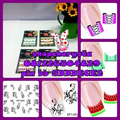 Water transfer nail art series