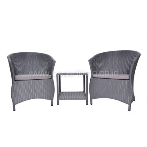 Jessica Terrace Chair - Grey (Set)