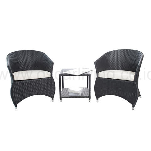 Jessica Terrace Chair - Hitam (set)