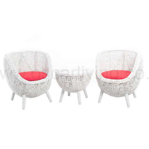 OLC Oval Terrace Chair - White