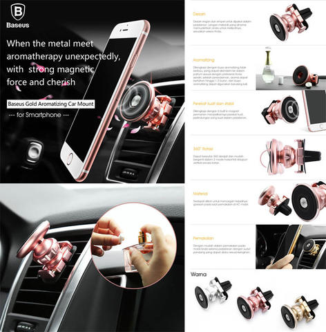 Baseus Magnet 360 Car Air Vent Mount Holder With Aromatizing