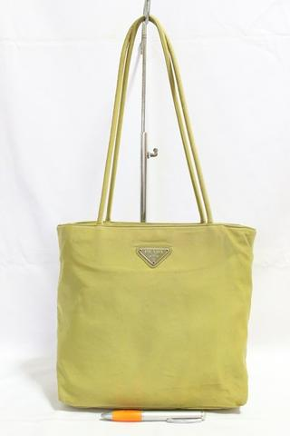 Tas branded PRADA P92 Yellow lemon zip tote second bekas original asli