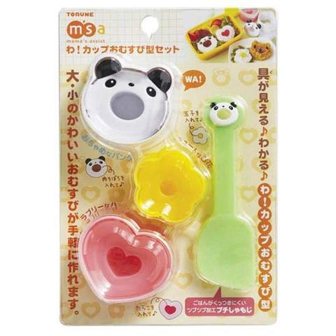 3 Set Rice Sushi Mold Maker Cetakan Bento Nasi Bear Panda Love Flowe