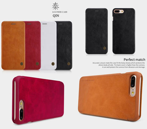 Aksesoris Nillkin Qin Leather Case iPhone 7 Plus Flip Cover