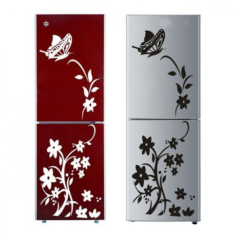 Terjual Stiker Kulkas Motif Butterflies flying at flowers  1a16fb52ab