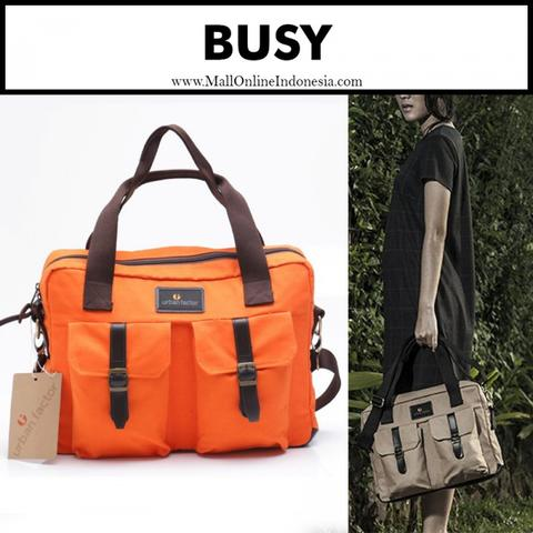 BUSY Series Tas Selempang Laptop Messenger Bag