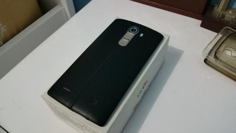LG G4 Black Leather Good Condition