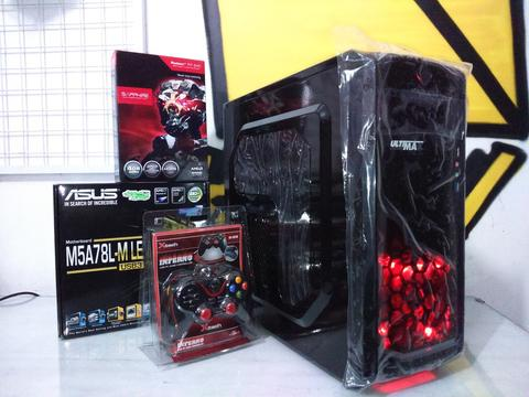 PC gaming Asus AM3 Plus, VGA 4 GB directx 12, RAM 8GB sudah USB 3 0 ngebut