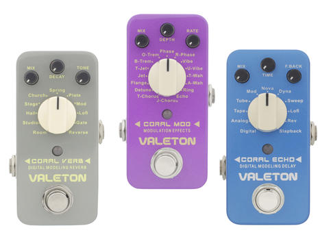 VALETON CORAL Series (Mini Digital Modeling Effect Pedals) Reverb, Delay, Modulation