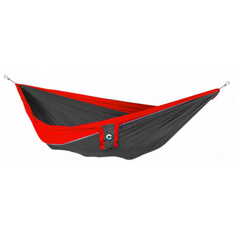 Commoc Hammocks Double Size Dark Grey Strip Red