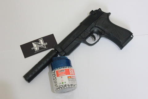 """Paket """"P"""" MP-900-S (Silincer) + BB Bullet Cosmos isi 1000"""