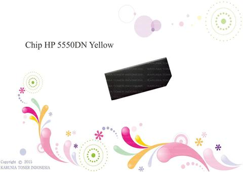 Chip HP 5550DN Yellow