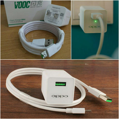 CHARGER OPPO VOOC ORIGINAL 4A RAPID TURBO CHARGING R7/R7S/N3/FIND 7/7A ADAPTOR +KABEL