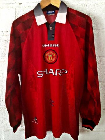 separation shoes 80bcd 1c2d2 Manchester united home long sleeves kit / jersey by umbro 1996-1998 Rareee  original