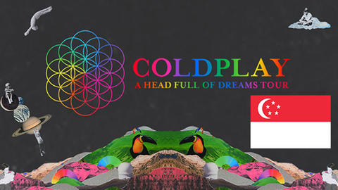 Coldplay Live in Singapore Standing Pen A