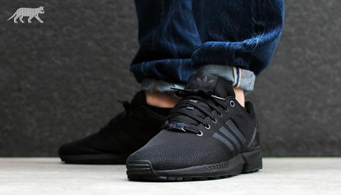 "ADIDAS ZX FLUX "" ALL BLACK "" PREMIUM QUALITY """