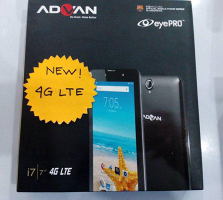 Tablet Advan I7 RAM 1GB ROM 8GB
